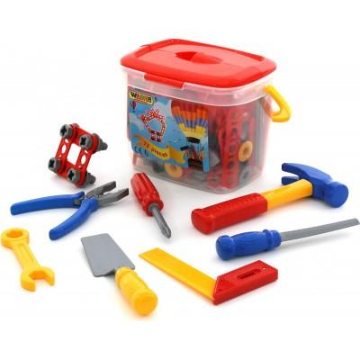 Детский набор инструментов №1 (72 элемента в ведёрке) Полесье