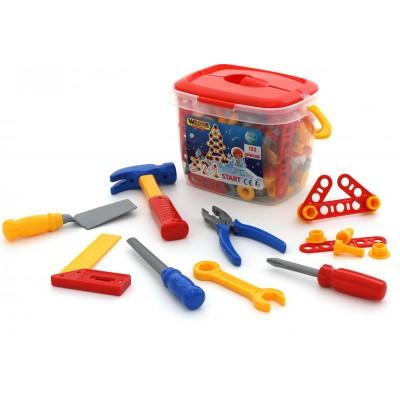 Детский набор инструментов №3 (132 элемента в ведёрке) Полесье