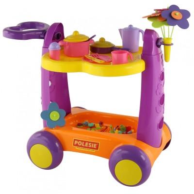 Детский сервировочный столик-тележка (Полесье)