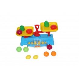 Игровой набор Весы + Набор продуктов (12 элементов) (в сеточке) Полесье