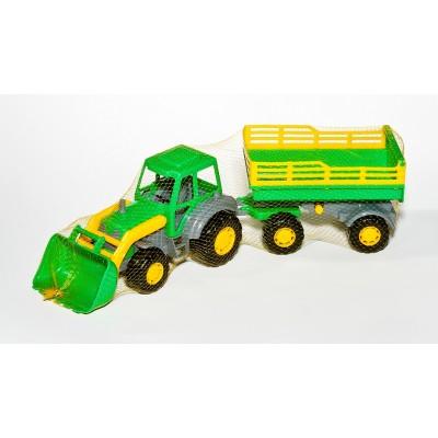 """Детский трактор с прицепом и ковшом """"Мастер"""" №2 (Полесье)"""