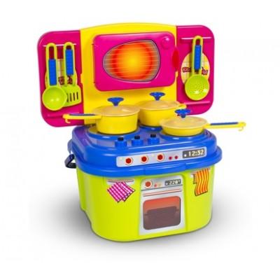 """Детская кухня с посудкой """"Мини-кухня"""" (в коробке) Полесье"""
