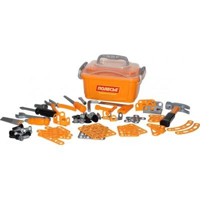 Детский набор инструментов для мальчика №10  в контейнере (Полесье) 166 элементов
