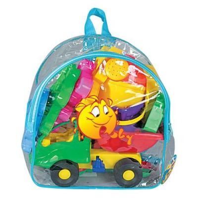 Набор игрушек и формочек для песочницы №352 (в рюкзаке) Полесье
