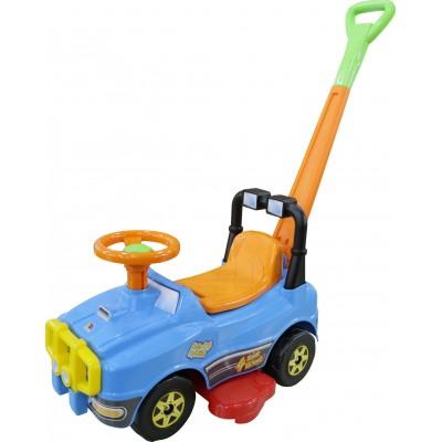 Автомобиль Джип-каталка с ручкой (голубой) Полесье