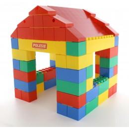 Конструктор строительный Дом 134 элемента (Wader) 37473