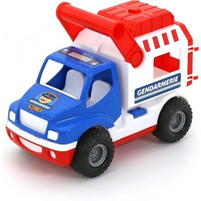 """Полицейская игрушечная машина """"КонсТрак-жандармерия"""" (в сеточке) Полесье"""