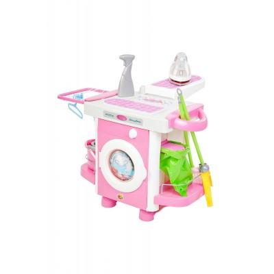 """Детская стиральная машина со звуком и светом """"Carmen"""" №6 с утюгом и аксессуарами (Coloma Polesie)"""