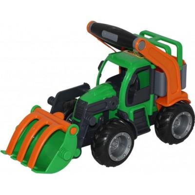 """Детский игрушечный трактор-погрузчик """"ГрипТрак"""" (в сеточке) Полесье"""