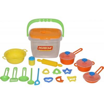 Набор детской посуды (20 элементов) (в ведёрке) Полесье