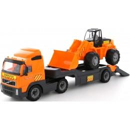"""Трейлер, автовоз + трактор-погрузчик """"Volvo"""" (Полесье)"""