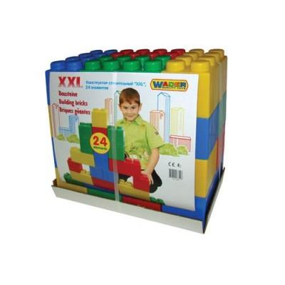 Детский конструктор строительный XXL, 24 элемента (Полесье)