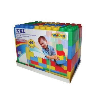 Конструктор строительный XXL с большими элементами (Полесье) 45 элементов