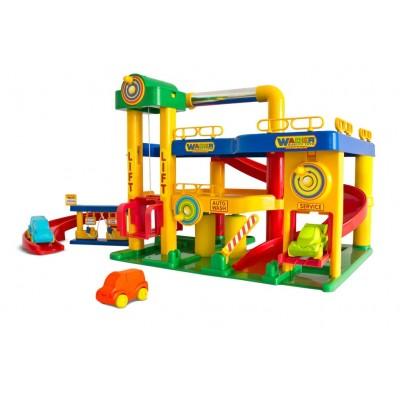 """Детский гараж для машинок """"Гараж №1 с автомобилями"""" (Wader Polesie) Полесье  37824"""