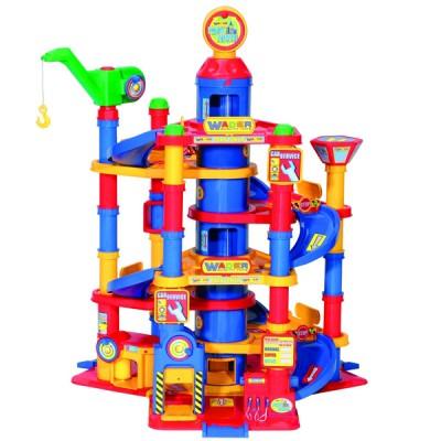 """Детская парковка 7-уровней """"Autopark"""" с автомобилями  (в коробке) Полесье 37848"""