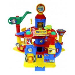 """Детская парковка паркинг 4-уровневый """"Parktower"""" с автомобилями (Wader Полесье)"""