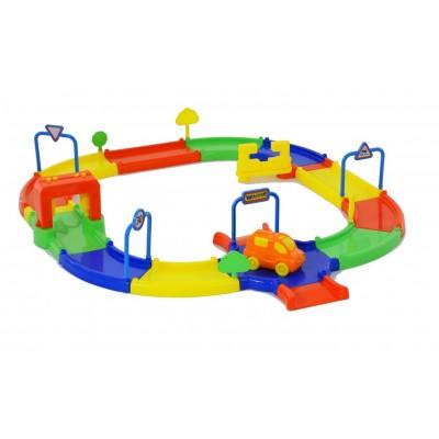 """Детская гоночная трасса для игрушечных машинок """"Гоночный трек №1"""" (в пакете) Полесье"""