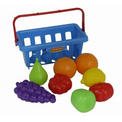 Набор продуктов с корзинкой №2 (9 элементов) Полесье (в сеточке)