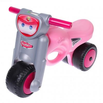 """Детская каталка-мотоцикл """"Мини-мото"""", розовая (Полесье)"""