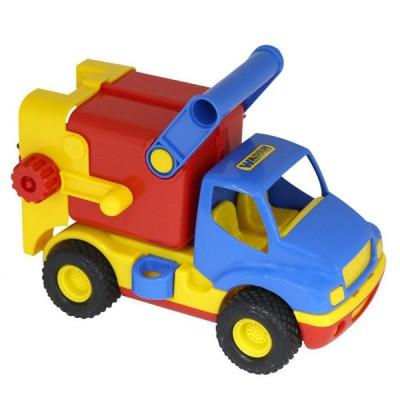 """Игрушечный мусоровоз машинка """"КонсТрак"""", автомобиль коммунальный (в сеточке) Полесье, Wader"""