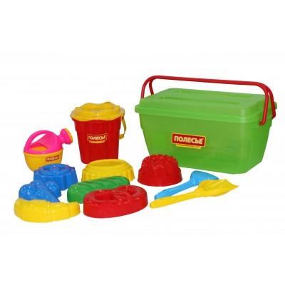 Набор игрушек для песочницы №502 Полесье (в контейнере)