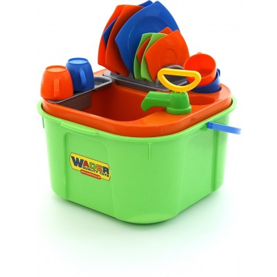 """Детский игровой набор с водой для мытья посуды """"Мини-посудомойка"""" (Wader Полесье)"""