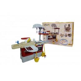 Детская большая кухня и набор для уборки 2в1 INFINITY basic №4 (Инфинити)