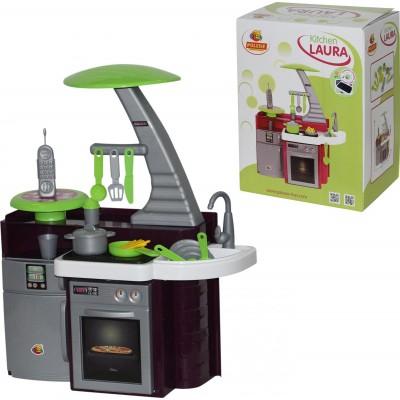 """Детская игрушечная кухня """"Laura"""" с варочной панелью (в коробке) Полесье"""