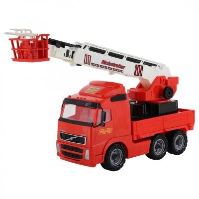 """Детская пожарная машина """"Volvo"""" (в сеточке) Полесье"""
