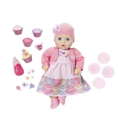 Zapf Creation Baby Annabell 700-600 Бэби Аннабель Кукла многофункциональная Праздничная, 43 см