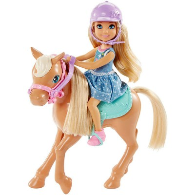 Mattel Barbie DYL42 Барби Кукла Челси и пони