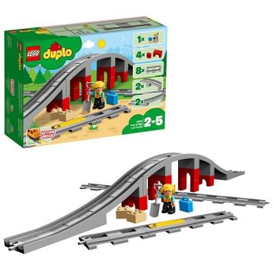 Lego Duplo 10872 Конструктор Железнодорожный мост и рельсы