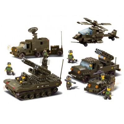 Конструктор Военная техника:подразделение ПВО 956 деталей