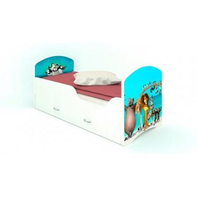 """Детская кровать CLASSIC """"Мадагаскар"""" (с ящиками)"""