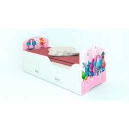 """Кровать CLASSIC """"Тролли""""  (с ящиками)"""