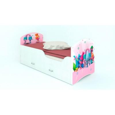 """Детская кровать CLASSIC """"Тролли""""  (с ящиками)"""
