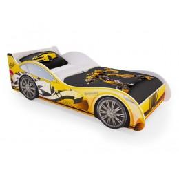 Кровать машинка «Желтая» (без ящиков)