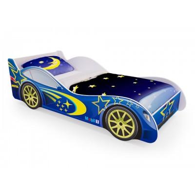 Детская кровать машина «Синяя» (без ящиков)
