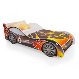 Кровать машинка «Пламя» (без ящиков)