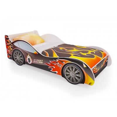 Детская кровать машина «Пламя» (без ящиков)