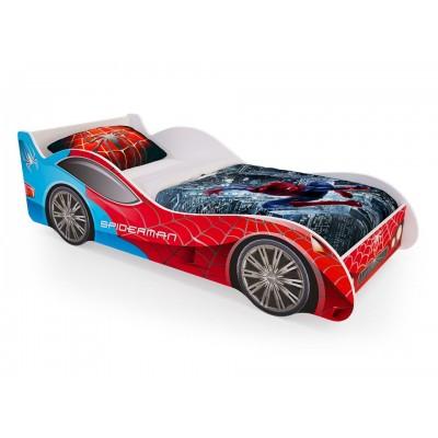 """Детская кровать машина """"Спайдер-мен"""" (с ящиками)"""
