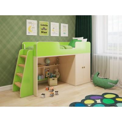 """Детская кровать - чердак игровая """"Зеленая"""""""