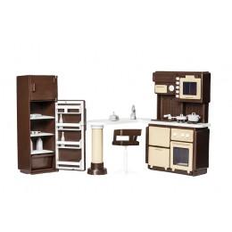 """Набор мебели для кухни в кукольный домик """"Коллекция"""" (Огонек)"""
