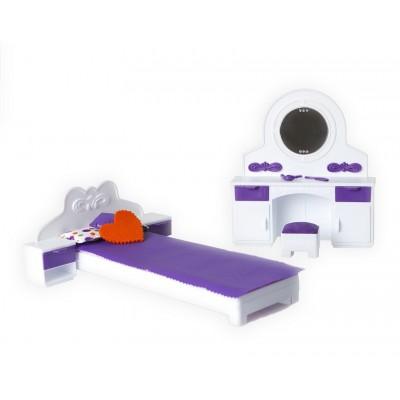 """Игрушечная спальня для кукольного дома """"Конфетти"""""""
