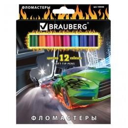 "Фломастеры BRAUBERG ""InstaRacing"", 12 цветов"