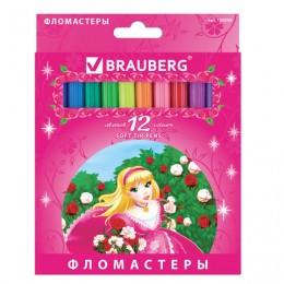 "Фломастеры BRAUBERG ""Rose Angel"", 12 цветов"