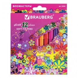 "Фломастеры BRAUBERG ""Blooming flowers"", 12 цветов"