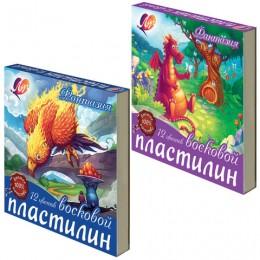 """Пластилин восковой ЛУЧ """"Фантазия"""", 12 цветов"""