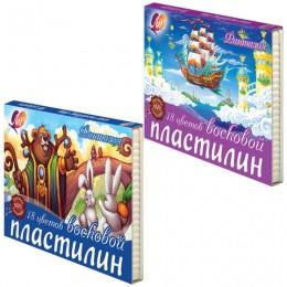 """Пластилин восковой ЛУЧ """"Фантазия"""", 18 цветов"""