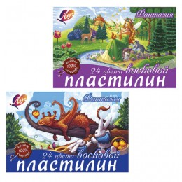"""Пластилин восковой ЛУЧ """"Фантазия"""", 24 цвета"""